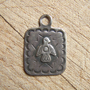 Old Harvey Era Native American Sterling Silver Pendant/Fob