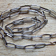 Long Vintage Native American Sterling Silver Handmade Chain
