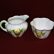 REDUCED Shelley Sugar and Creamer - Primrose