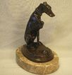 Bronze Italian Greyhound and Turtle Figure on Marble Base