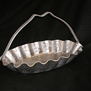 Beautiful Hammered Aluminum Basket with Flying Ducks