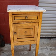 French Antique Marble Top Night Stand Antique Side Table Bed Stand