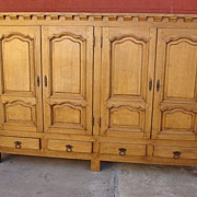 French Antique Rustic Cabinet Antique Sideboard Server Cupboard Antique Furniture