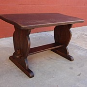 Spanish Antique Rustic Coffee Table Bench Antique Furniture