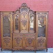 Antique Louis XV Liege Buffet Antique Credenza Cabinet Sideboard Server Antique Furniture