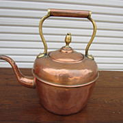 French Antique Copper Tea Kettle Coffee Pot Antiques Collectibles