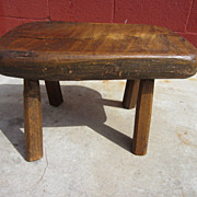 French Antique Rustic Stool Bench Milking Stool French Antique Furniture