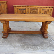 French Antique Gothic Table Library Table Desk Antique Furniture