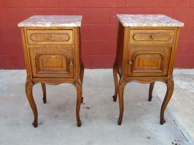 Vintage Nightstands Ideas : Pair of French Antique Night Stands Antique Furniture Nightstands from ...