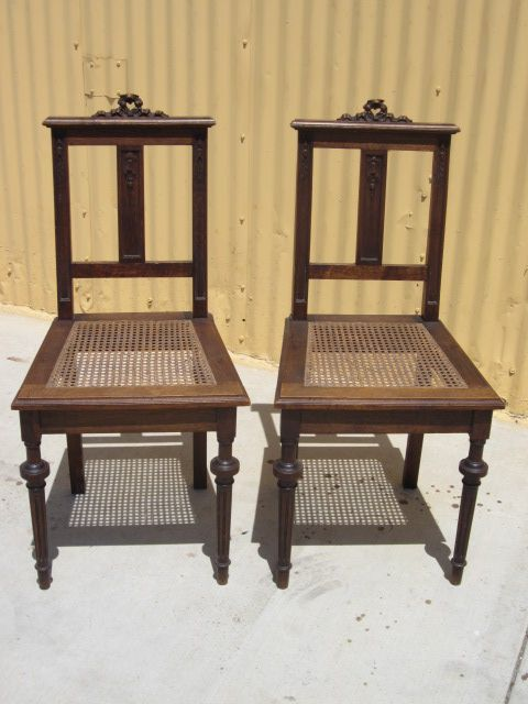 Pair of French Antique Chairs Antique Furniture Accent Chairs from