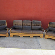 Spanish Antique 3 Piece Sofa Couch Set Antique Rustic Furniture