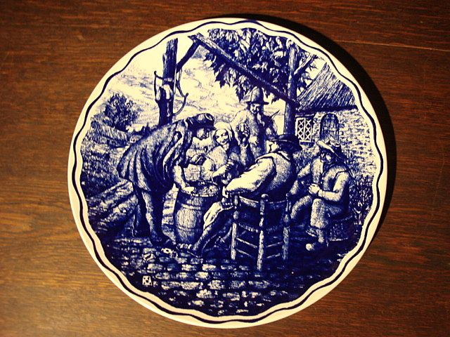 Dutch Antique Flemish Antique Boch Plate