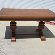 French Antique Dining Table Library Table Desk Antique Furniture