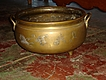 Large Brass Antique Kettle Pot Cauldron Planter