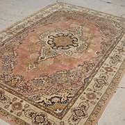 Antique Wool Persian Rug Oriental Carpet