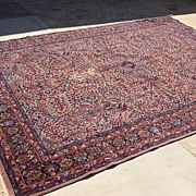 Antique Hand Made Wool Oriental Persian Carpet Rug