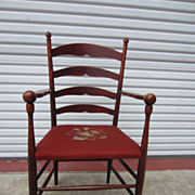 American Antique Ladder Back Arm Chair Great Chair Antique Furniture