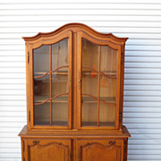 Country French China Cabinet Display Cabinet Curio Bookcase