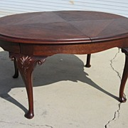 French Antique Dining Table Queen Ann Legs Antique Dining Room Furniture