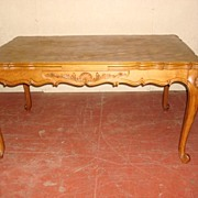 Beautiful Hand Carved French Table Large Dining Table Library Table
