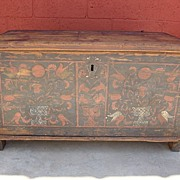 Antique Furniture Antique Painted Pine Chest Trunk