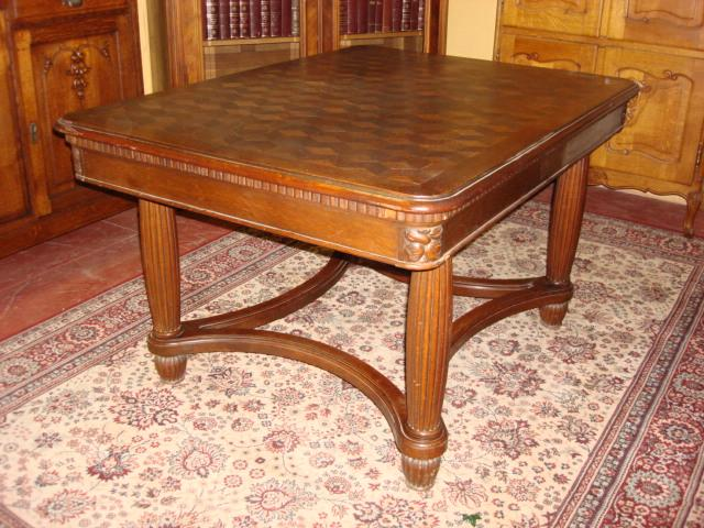 Beautiful Original French Art Deco Dining Table Library Desk