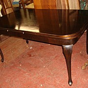 French Antique Queen Ann Walnut Dining Table