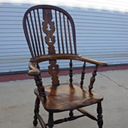 English Antique 19th Century Windsor Armchair Antique Furniture