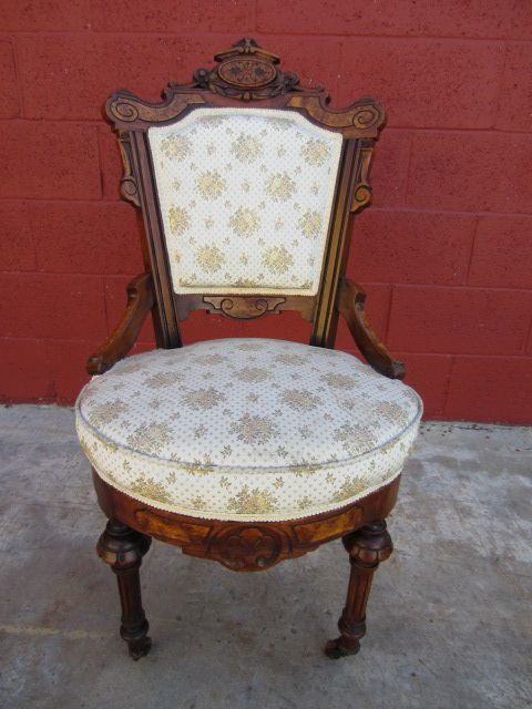 American Antique Victorian Chair Accent | Parlor Chair Antique