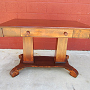 American Antique Desk Antique Library / Work Table Antique Furniture