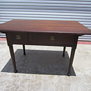American Antique Work Table Library Table Desk Antique Furniture