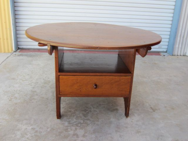 American Antique Tilt Top Table Tavern Chair Bench Antique ...