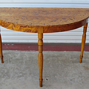 German Antique Console Table Crescent Table Antique Furniture