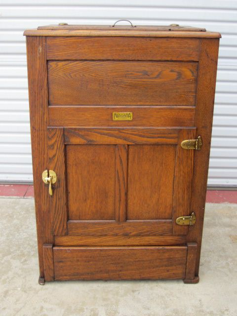 American Antique Ice Box Refrigerator from mrbeasleys on Ruby Lane