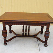 American Antique Dining Table Library Table Desk Antique Furniture