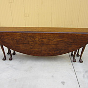 English Hunt Table Drop Leaf Table Chippendale Table Antique Furniture