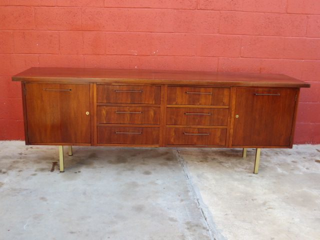 Danish Modern Cabinet Sideboard Server Vintage Mid Century Furniture