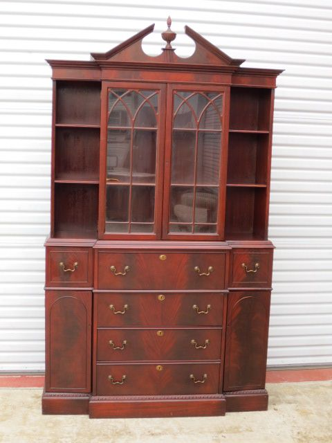 American Break Front Secretary Bookcase Desk American Furniture