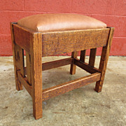 American Antique Arts and Crafts Stool Bench Mission Antique Furniture