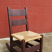 Antique Rocking Chair Gustav Stickley Mission Arts and Crafts Furniture