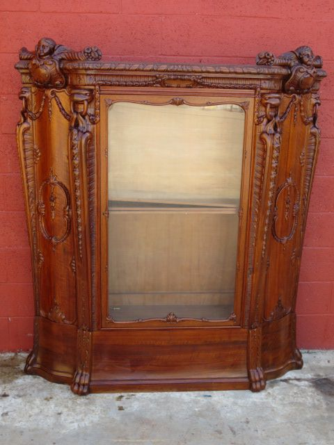 Italian Antique Bookcase Display Cabinet Antique Furniture