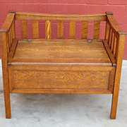 Antique Arts and Crafts Bench Antique Mission Bench Antique Furniture