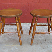 Pair of American Antique Stools Antique Furniture