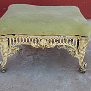 American Antique Foot Stool Victorian Ottoman Iron Antique Furniture