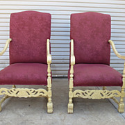 Pair of French Antique Arm Chairs Antique Furniture