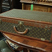 Original Louis Vuitton Suitcase Steamer Trunk Luggage