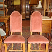 Pair of French High Back Gothic Chairs French Antique Furniture