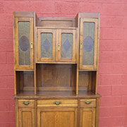 Antique Hutch Arts and Crafts Mission Cabinet Sideboard Antique Furniture