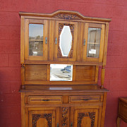French Art Deco Hutch Cabinet Cupboard Vintage French Furniture