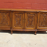 Hand Carved French Chippendale Sideboard Server